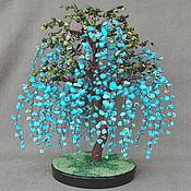 Цветы и флористика handmade. Livemaster - original item Wisteria from turquoise and coral. Handmade.