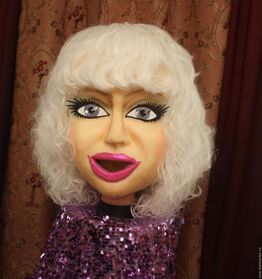 Портретные куклы ручной работы. Ярмарка Мастеров - ручная работа. Купить ростовая кукла. Handmade. Бежевый, Артист, поролон