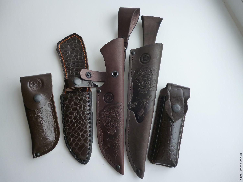 The genuine leather sheath, Knives, Vyazniki,  Фото №1