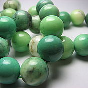 Материалы для творчества handmade. Livemaster - original item Smooth chrysoprase bead ball 12 mm ball. Handmade.