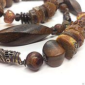 Украшения handmade. Livemaster - original item Boho beads long Nature.Tree, medical amber, designer accessories. Handmade.