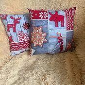 Pillow handmade. Livemaster - original item Christmas pillow, Christmas pillows. Handmade.