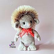 Куклы и игрушки handmade. Livemaster - original item Knitted hedgehog made of velour yarn interior toy hedgehog. Handmade.