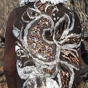 """Одежда ручной работы. Ярмарка Мастеров - ручная работа Валяный жилет """"Птица"""". Handmade."""