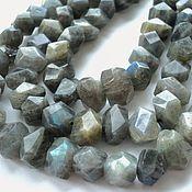 Материалы для творчества handmade. Livemaster - original item Labradorite beads faceted stones friform 15-16mm. Handmade.