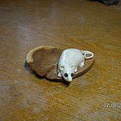 Для дома и интерьера ручной работы. Ярмарка Мастеров - ручная работа мышонок на корке. Handmade.
