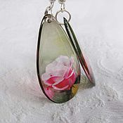 Украшения handmade. Livemaster - original item Rose earrings transparent. Handmade.
