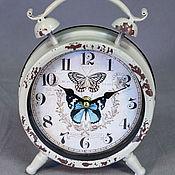 Для дома и интерьера ручной работы. Ярмарка Мастеров - ручная работа Часы настольные в виде будильника Бабочка. Handmade.