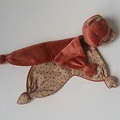 Мягкие игрушки ручной работы. Ярмарка Мастеров - ручная работа Комфортер мишка. Handmade.