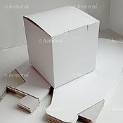Материалы для творчества ручной работы. Ярмарка Мастеров - ручная работа Коробка белая 105х105х110 мм;. Handmade.
