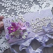 Подарочные конверты ручной работы. Ярмарка Мастеров - ручная работа Цветочный конверт для денежного подарка. Handmade.