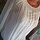 Кофты и свитера ручной работы. Джемпер Белая пена.. Оксана Кулькина. Интернет-магазин Ярмарка Мастеров. Рисунок, свитер женский