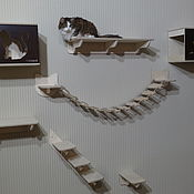 Для домашних животных, handmade. Livemaster - original item Wall complex for cats