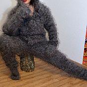 Одежда handmade. Livemaster - original item Downy jumpsuit with a hood