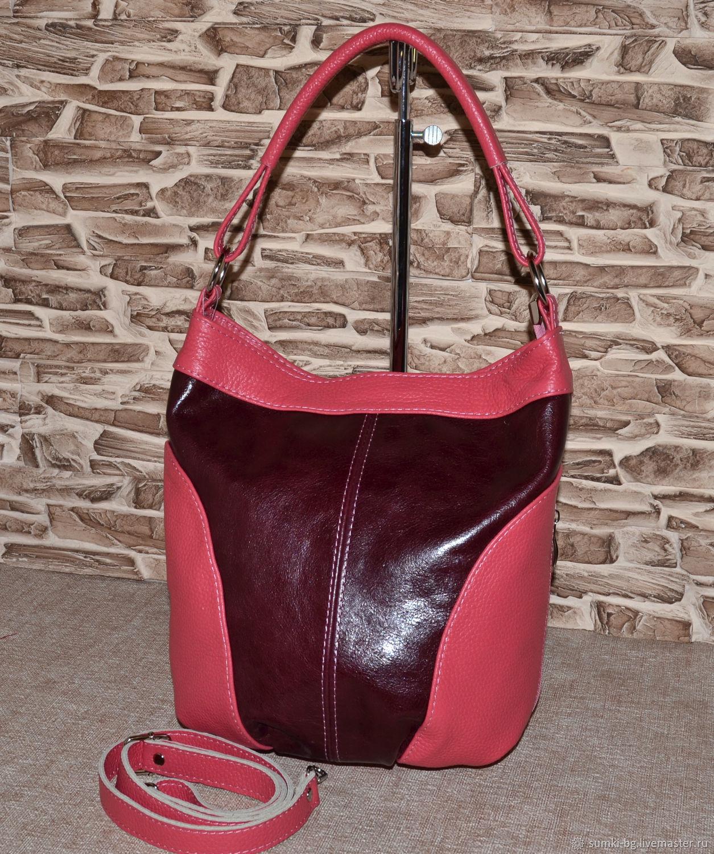Model 183 shoulder Bag: Handbag genuine leather bag, Sacks, Bogorodsk,  Фото №1