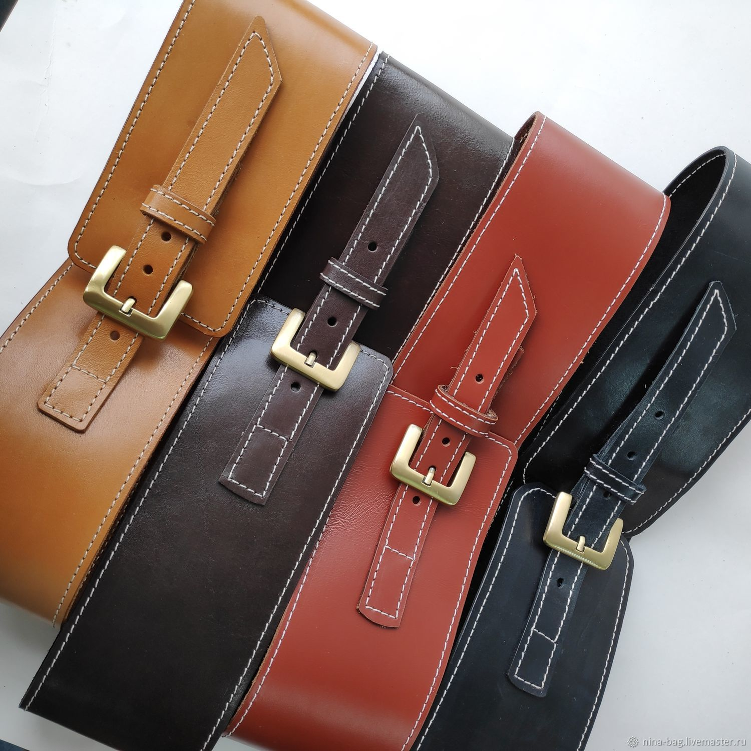 A wide strap of leather, Straps, Mezhdurechensk,  Фото №1