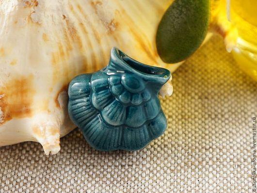 Для украшений ручной работы. Ярмарка Мастеров - ручная работа. Купить Аромакулон керамический №10 (морской). Handmade. Аромакулон, ароматерапия
