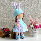 Куклы и игрушки ручной работы. Ярмарка Мастеров - ручная работа Кукла интерьерная Интерьерная кукла Девочка в голубом платье. Handmade.