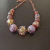 Украшения handmade. Livemaster - original item Parisienne necklace lampwork. Handmade.