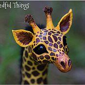 Куклы и игрушки ручной работы. Ярмарка Мастеров - ручная работа Жираф. Игрушка жираф. Сказочное создание. Интерьерная игрушка.. Handmade.