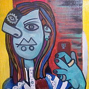 Selfie Картина маслом на холсте в стиле Пикассо