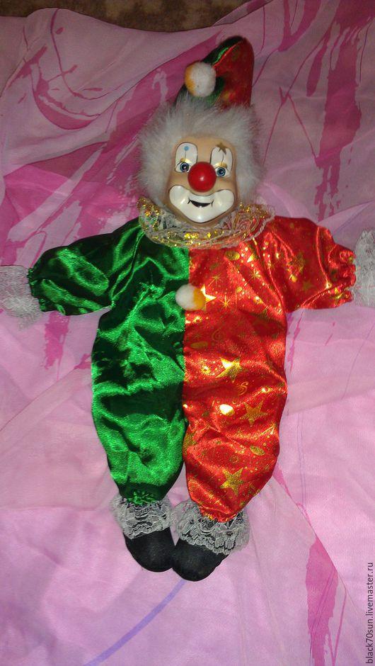 Винтажные куклы и игрушки. Ярмарка Мастеров - ручная работа. Купить Кукла - клоун.. Handmade. Комбинированный, марионетка, ткань