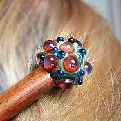 Украшения handmade. Livemaster - original item Hairpin hair kanzashi Murano glass. Handmade.