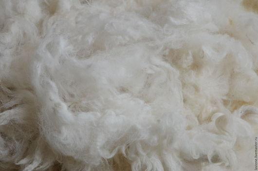 Валяние ручной работы. Ярмарка Мастеров - ручная работа. Купить Флис альпаки (очищеный,мытый)- белый. Handmade. Белый