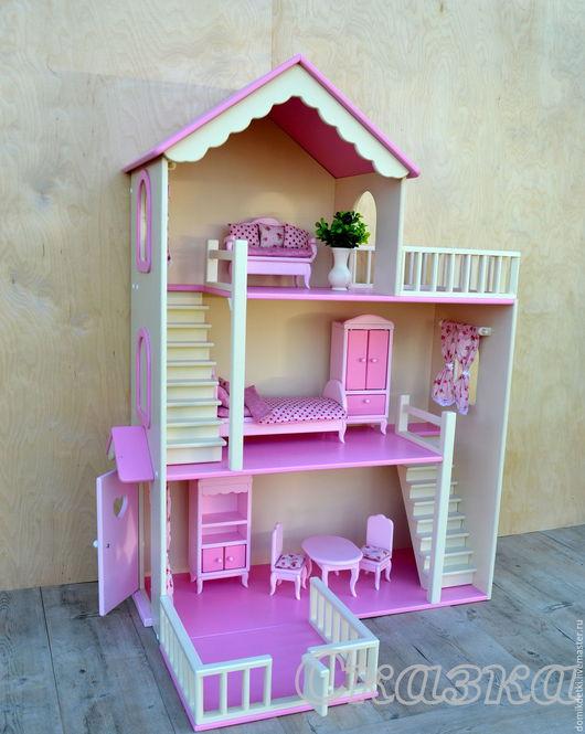 Кукольный дом ручной работы. Ярмарка Мастеров - ручная работа. Купить Кукольный домик. Handmade. Кукольный дом, деревянный домик