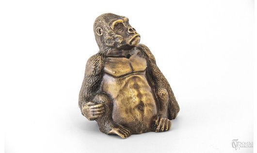 Статуэтки ручной работы. Ярмарка Мастеров - ручная работа. Купить Обезьяна. Handmade. Обезьянка, горилла, скульптура, бронза