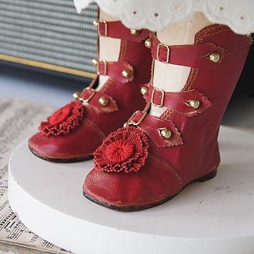 """Куклы и игрушки ручной работы. Ярмарка Мастеров - ручная работа Обувь для Антикварной и современной куклы """"Сranberry"""". Handmade."""