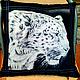 Текстиль, ковры ручной работы. Ярмарка Мастеров - ручная работа. Купить Подушка декоративная Джунгли. Handmade. Чёрно-белый