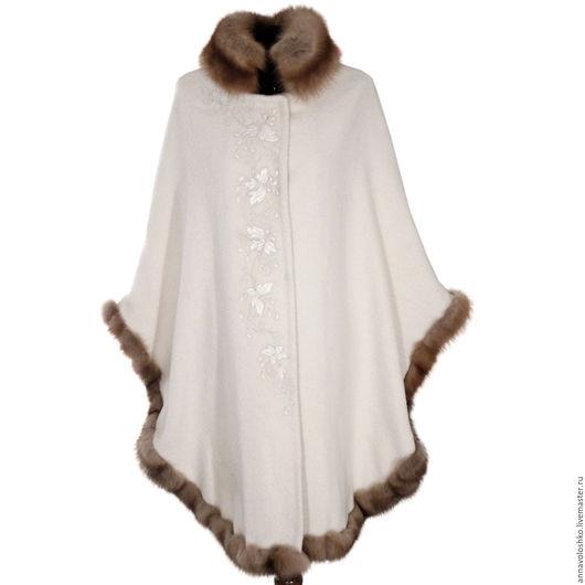 Пончо и куртки из шерсти с натуральным мехом.
