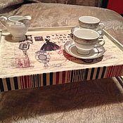 """Для дома и интерьера ручной работы. Ярмарка Мастеров - ручная работа Столик-поднос для завтрака """"Музыкальное утро"""". Handmade."""