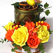 Цветы и флористика ручной работы. Ярмарка Мастеров - ручная работа Конфеты с чаем. Handmade.