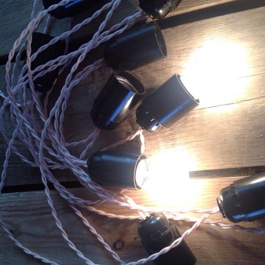 Освещение ручной работы. Ярмарка Мастеров - ручная работа. Купить Ретро гирлянда с лампами накаливания. Handmade. Гирлянда, ретро гирлянда