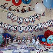 Подарки к праздникам ручной работы. Ярмарка Мастеров - ручная работа оформление дня рождение в морском стиле. Handmade.