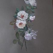 """Картины и панно ручной работы. Ярмарка Мастеров - ручная работа Акварель """"Белые розы"""". Handmade."""
