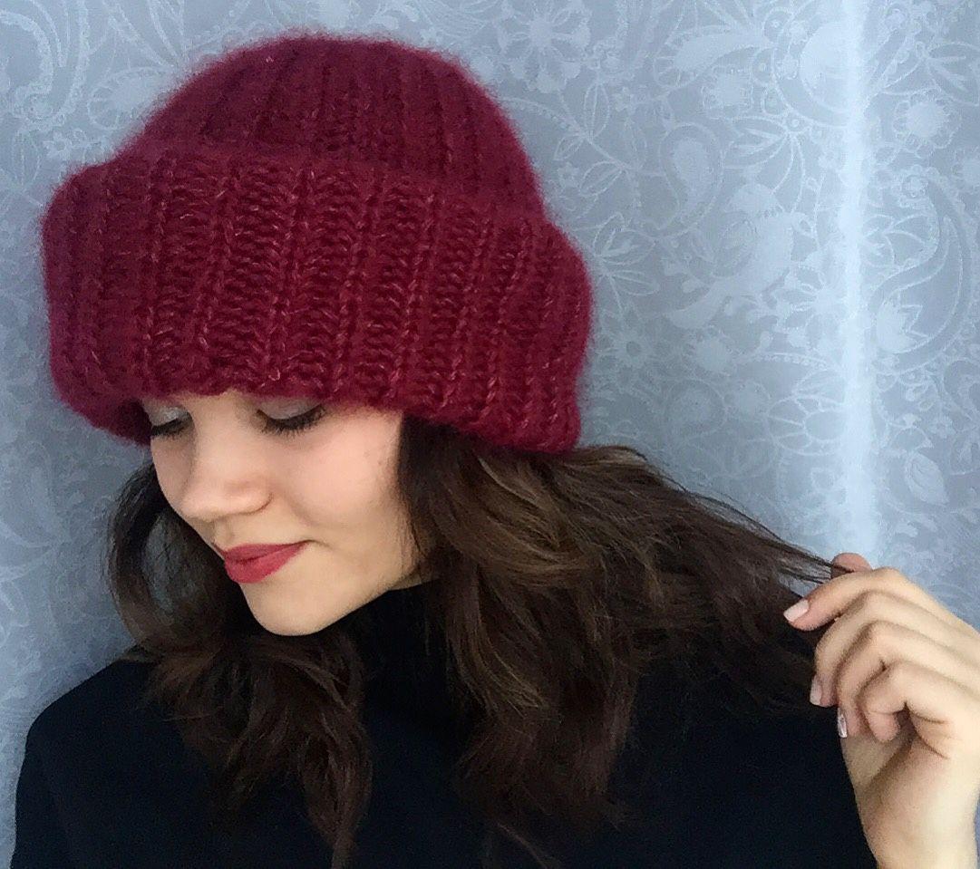 60 Связать женскую шапку для осени