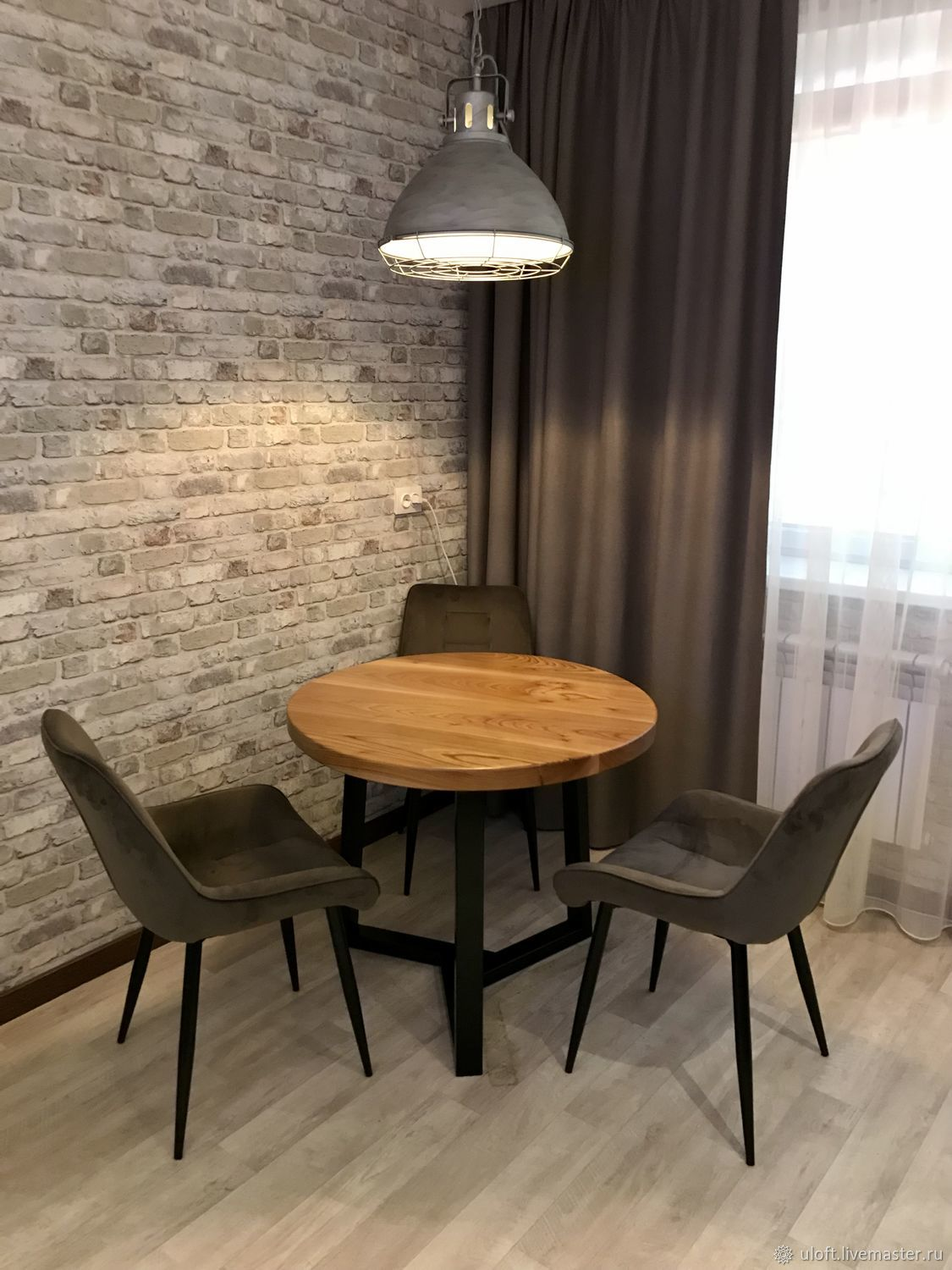 Dining table made of elm slabs (project g. Yaroslavl), Tables, Ivanovo,  Фото №1