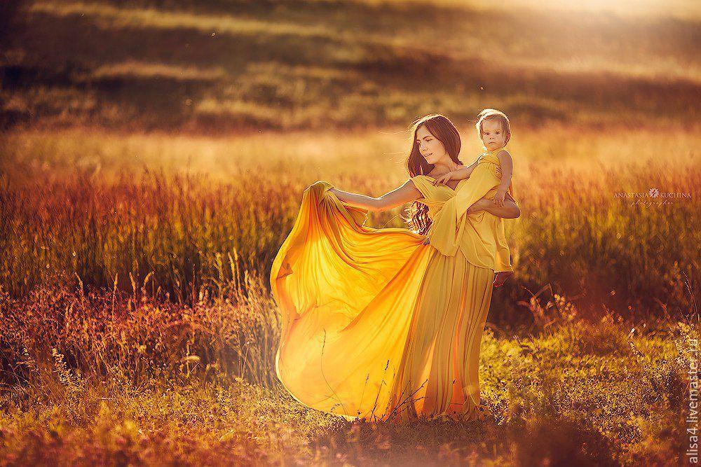 Желтый family look (парные платья для мамы и дочки), Сарафаны, Нижний Новгород,  Фото №1