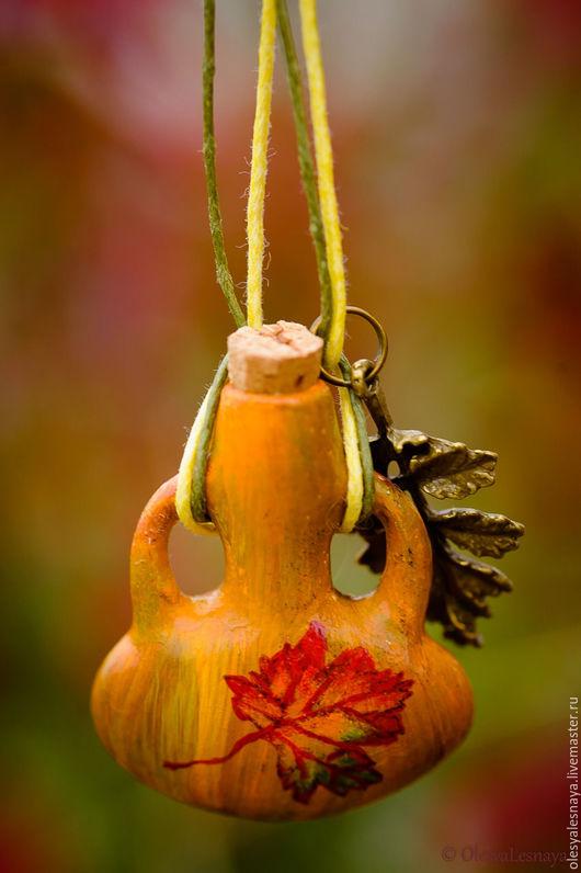 """Кулоны, подвески ручной работы. Ярмарка Мастеров - ручная работа. Купить Аромакулон """"Осенний"""". Handmade. Желтый, кулон, осень, картинка"""