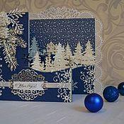 Открытки ручной работы. Ярмарка Мастеров - ручная работа Открытка новогодняя,  с новым годом,  подарок на новый год. Handmade.