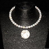 Necklace handmade. Livemaster - original item Necklace natural pearls (author`s handwork). Handmade.