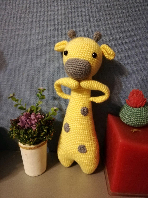 Жираф вязаный крючком, Игрушки, Москва, Фото №1