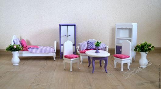 Кукольный дом ручной работы. Ярмарка Мастеров - ручная работа. Купить Мебель для кукольного домика. Handmade. Мебель из дерева, сосна
