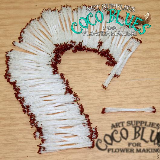 Мелкие коричневые головки на белой нити. В одной упаковке 100 пучков по 24-25 штук Тайские тычинки очень хорошего качества.  `Кокосов Блюз` Таиланд  © Coco Blues (Thailand) Co. Ltd