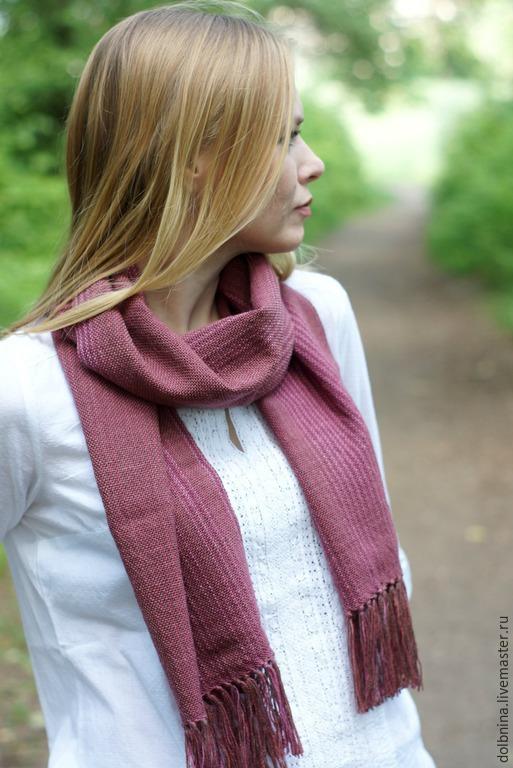 Шарфы и шарфики ручной работы. Ярмарка Мастеров - ручная работа. Купить Шарф женский сотканный вручную Rose. Handmade.