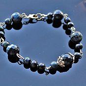 Украшения handmade. Livemaster - original item Women`s dark blue iridescent Hawkeye bracelet