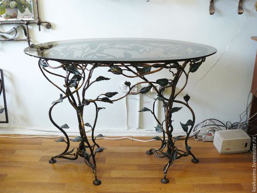 Мебель ручной работы. Ярмарка Мастеров - ручная работа. Купить Кованый стол. Handmade. Столик, кованый столик, журнальный столик